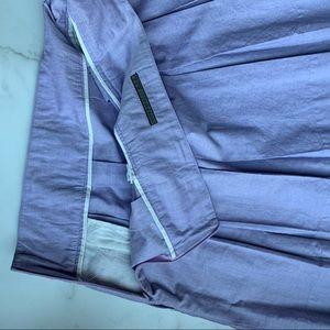 Zara Skirts - ZARA BASIC PLEATED MINI SKIRT LILAC SIDE ZIP SZ XL